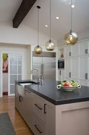 Pendant Light Kitchen Island Kitchen Island Pendant Lighting Adds Soft Glow In Santa Barbara Home