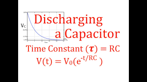 rc circuits 6 of 8 discharging a capacitor time constant voltage cur an explanation