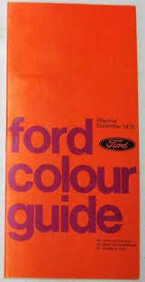 Ford Cortina 2000e Consul Granada 1975 Fa 101 Car Colour Chart Ebay