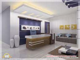 modern style office. Office Interior Designs At Home And Corporate: Extaordinary Modern Style White Bright Design. «