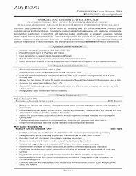 Pharmaceutical Sales Rep Resume Fresh Sales Representative Resume