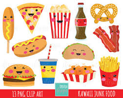 food clipart. Perfect Food 50 SALE Junk Food Clipart Fast Kawaii Images For Food Clipart