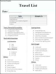 Vacation Checklist Template 7 Free Word Documents Download