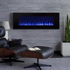 Wall-Mount Electric Fireplace in Black-1330E-BK - The Home Depot