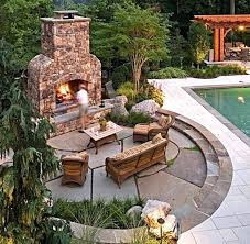 patio designs with fireplace. Patio Design Rectangular With Circular Flagstone Outdoor Fireplace Designs Pictures Backyard Deck Ideas Retaining Walls Walkways