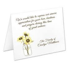 Personalized Sympathy Thank You Cards Sympathy Acknowledgement Cards Funeral Thank You Cards Sympathy
