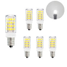 e12 ses small led capsule corn light bulbs 5w 400lm cool white 6000k ac110 120v replace 40w incandescent candle light bulbs for chandelier candelabra