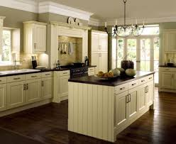 White Kitchen Dark Wood Floors Gray Metal Wall Range Hood Dark Wood Floors With White Cabinets