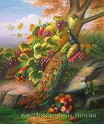 beautiful pea and parrot sch oil painting bestartdeals com