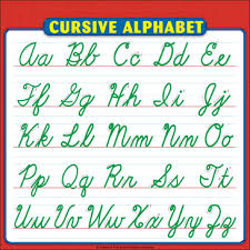 Cursive Letters Chart Cursive Alphabet Sheet Reference Page For Students