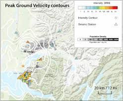 from the intensities recorded by seismic stations triangles which occurred in alaska s most densely poted region grayscale greater anchorage