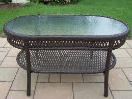 coffee table oakland living all weather wicker coffee table round wicker coffee table ottoman