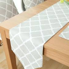 grey and white table runner dubious trellis mat topper classic modern home ideas 2 world market succulent table runner from world market