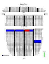 Shn Orpheum Theater Seating Chart Www Bedowntowndaytona Com