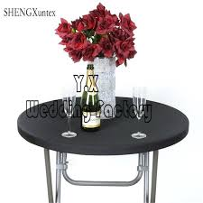 spandex table top covers cocktail cover for event wedding party decoration fitted round