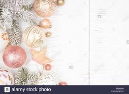 Roségold Weihnachten Stockfotos Roségold Weihnachten
