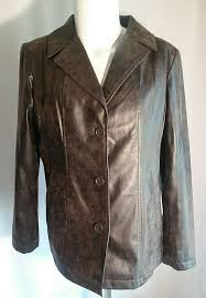 details about women s waterproof trench jacket coat covington lg brown distressed faux leather