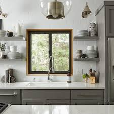 chelsea gray cabinets. Exellent Chelsea Floating Kitchen Shelves On Chelsea Gray Cabinets 1