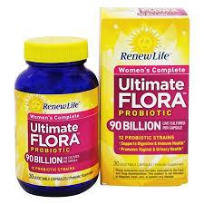 Renew Life Ultimate Flora Womens Complete Probiotic 90 Billion 30 Capsules