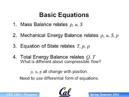 basic equations mass balance relates r u s