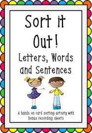 Letter Word And Sentence Sort 1 Rf 1 Distinguishing