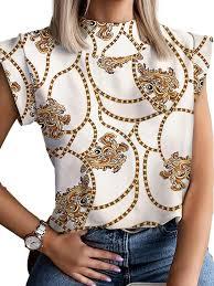 <b>Hirigin</b> - <b>Hirigin Summer</b> Womens Blouses And <b>Print</b> Stand Collar ...