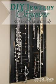 Diy Jewelry Organizer Diy Jewelry Organizer Tempting Thyme