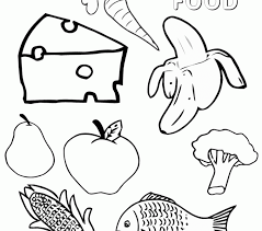 Small Picture Vegetable Food Coloring PagesFoodPrintable Coloring Pages Free