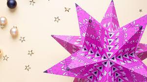 3 D Weihnachtsstern Aus Papier Kreativ Ard Buffet Swrde