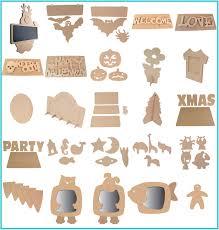 unpainted blank wood shapes