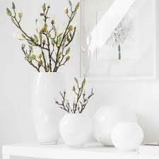 MOON glass vase round white / opal | DESSAIVE selected