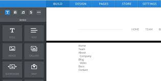 weebly web page editor shown creating a paragraph with list of web pages on site for