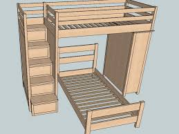 bunk bed with stairs plans. Brilliant With Architecture Bunk Bed Plans Sketchup Pdf Woodworking DMA Homes 42141 Inside  With Stairs Designs 13 Outdoor Throughout A