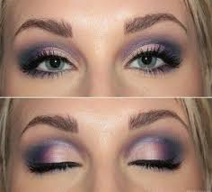 elegant makeup with ideas for blue eyes and brown hair