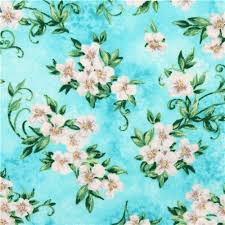 fabric garden. Aqua Blue Flower Blossom Timeless Treasures Fabric \u0027Garden Floral\u0027 2 Garden B