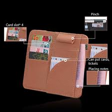 product name car paper clip material lychee leather size 16 3 14 5 applicable most cars function doent folder glasses clip wallet etc