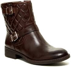 Arturo Chiang Brown Sarabeth Quilted Leather Motorcycle Ankle ... & Arturo Chiang Leather Quilted Brown Boots. 12345678 Adamdwight.com