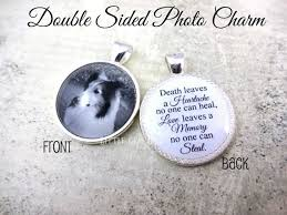 customisable photo memorial jewelry pet loss charm with dog and moving saying