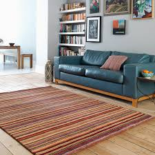 Striped Rug In Living Room Joseph Rugs Striped Rugs Wool Rugs The Rug Seller