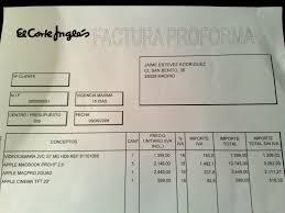 factura pro forma modelo factura factura pro forma