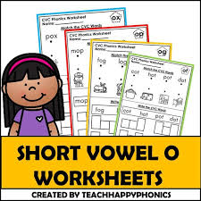 Write the missing short vowel sound. Printable Phonics Short Vowel Worksheets Lesson Etsy