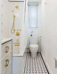 Marvelous Spanish Bathroom Tiles Bathroom Transitional with Waterfall  Counter Black Wall Tile Wood Countertops1940