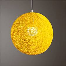 round concise hand woven rattan vine ball pendant lampshade light lamp shades light accessories