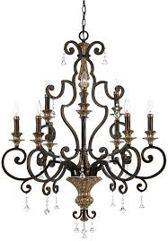 quoizel marquette large 9 light wrought iron chandelier heirloom