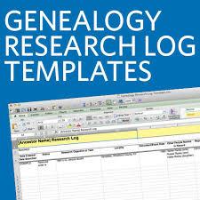 Excel Genealogy Templates Genealogy Research Log Templates