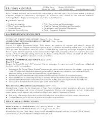 Military To Police Officer Resume Examples Resumes For Officers