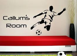 personalized wall stickers personalised wall decals football striker personalized wall art sticker customized wall stickers