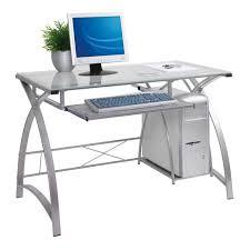 image of white computer desk
