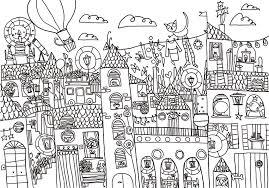 Disegno Da Colorare La Città Storta