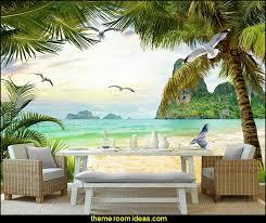 tropical beach style bedroom decorating ideas beach bedrooms surfer theme rooms tropical theme palm beach scenery wallpaper mural